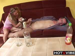 Son Takes Advantage Be required of Drunk Dad - 18yo