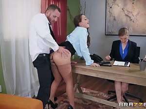 Abigail Mac longing her new boss at the tryst to acquire the job